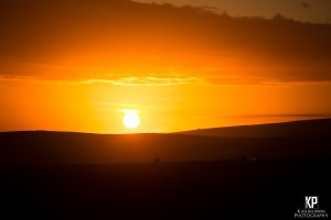 Spectavular sunset over Waimea on the west side of Kauai, HI