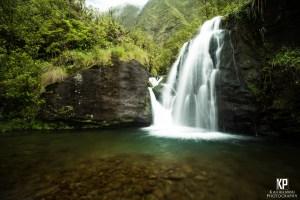Stunning Eastside Kauai Waterfall in the mountains