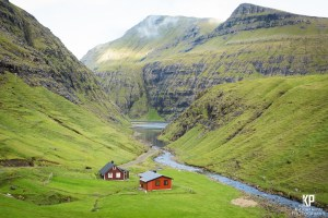 Less is more within the minds of the Faroese. These two small homes are the only things in this valley, and it is extraordinary.