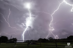 Lightning viciously ignites the sky in every direction