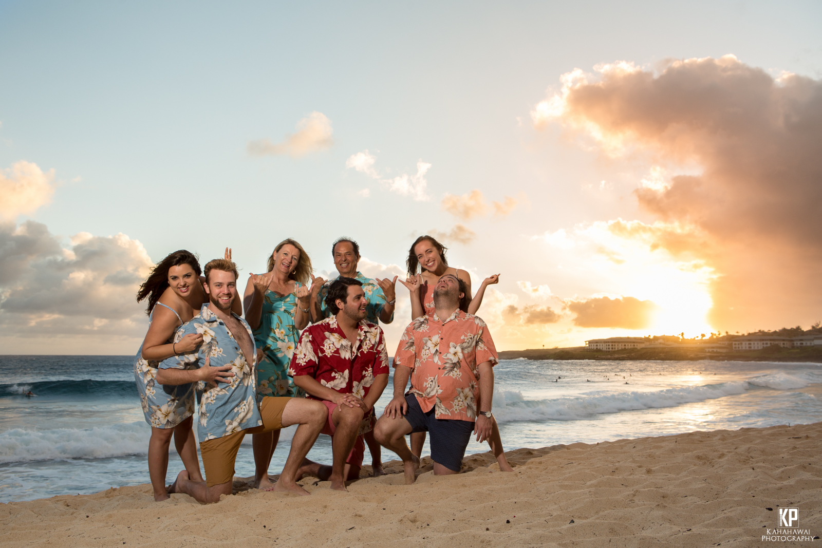 Funny Family Portrait Photography Shipwrecks Beach Poipu Kauai Hawaii