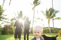 Sunrise Family Portrait photography, Kauai Hawaii