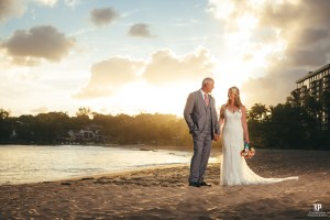 Sunset wedding photography on Kauai