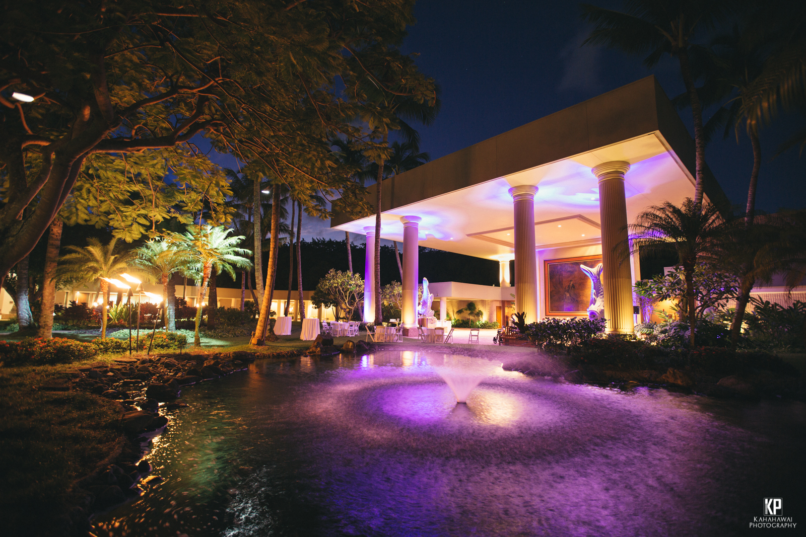 Lighting and scenery at the Kauai Marriott Resort