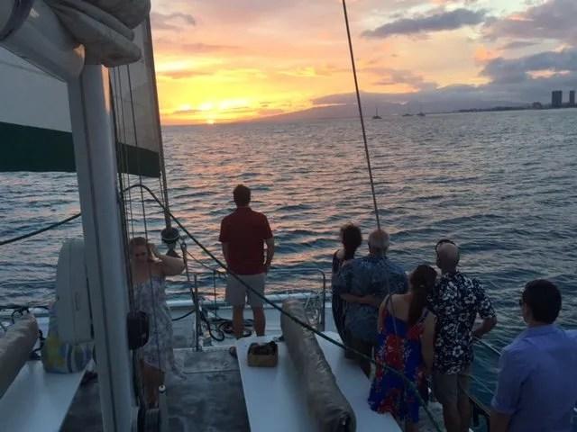 sunset sail Honolulu