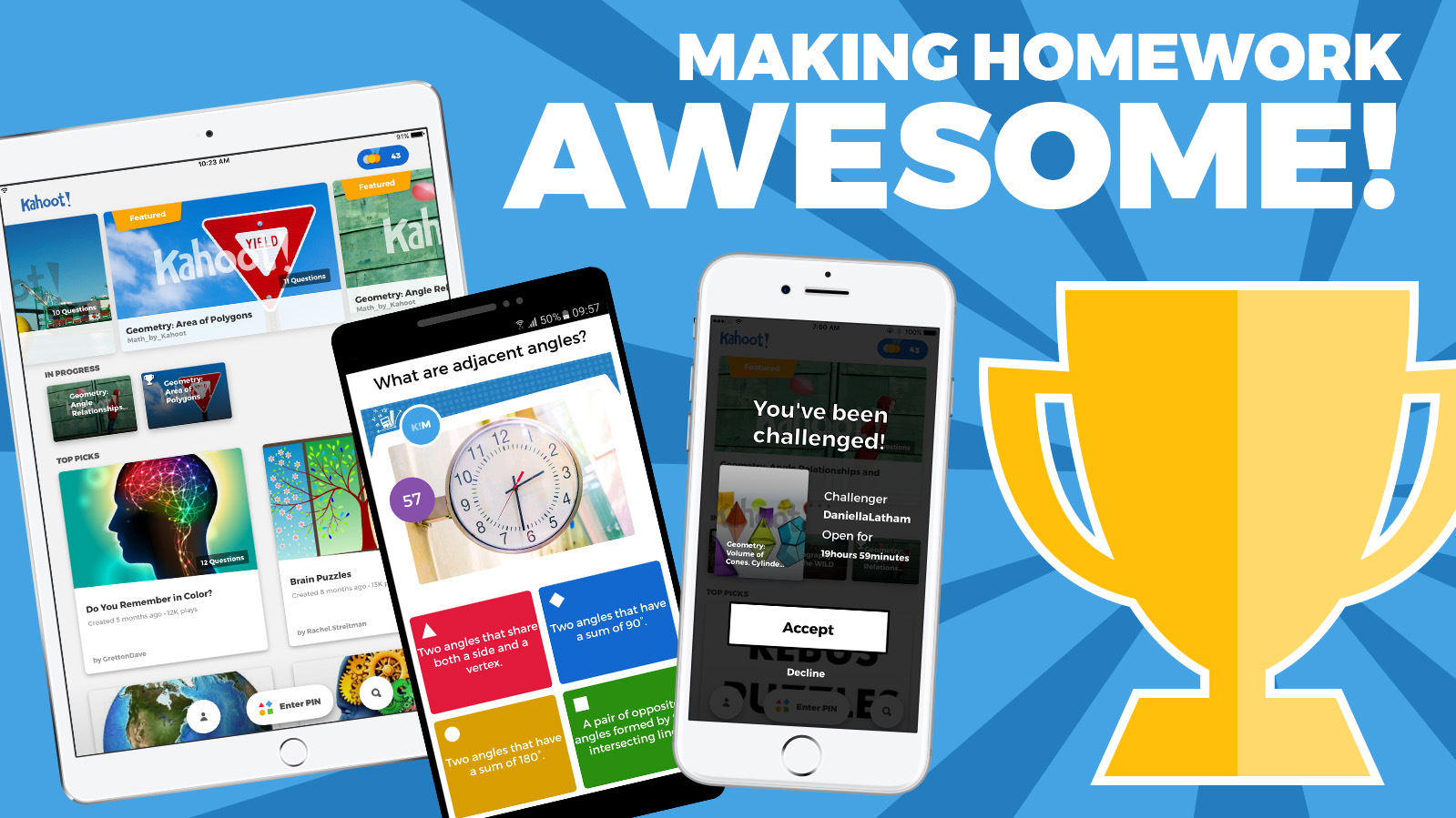 Kahoot Kahoot Launches New Mobile App To Make Homework Fun