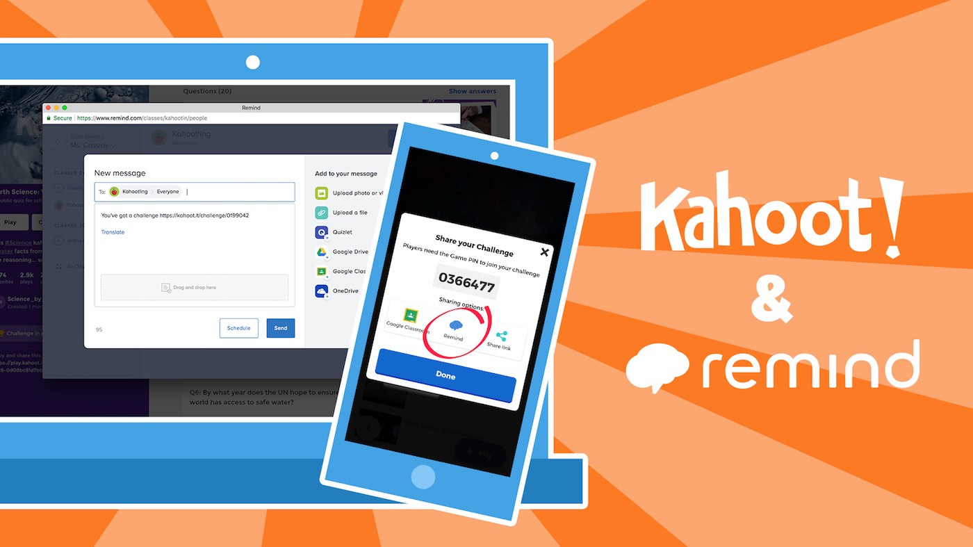 Kahoot Kahoot Integrates With Remind Assign Kahoot Challenges As Homework