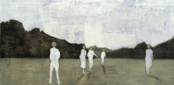 2010-Horizontverfolgung-75-x-150-cm-Öl,-Acryl,-Tusche,-Bleistift,-Nessel