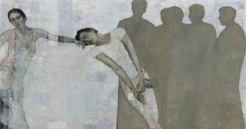 2010-Schwere-Schwerelosigkeit-160-x-300-cm-Öl,-Acryl,-Tusche,-Nessel