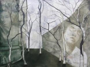 2011-Gewissensbestimmungsvorundrückschau-120-x-160-cm-Öl,-Acryl,-Tusche,-Nessel