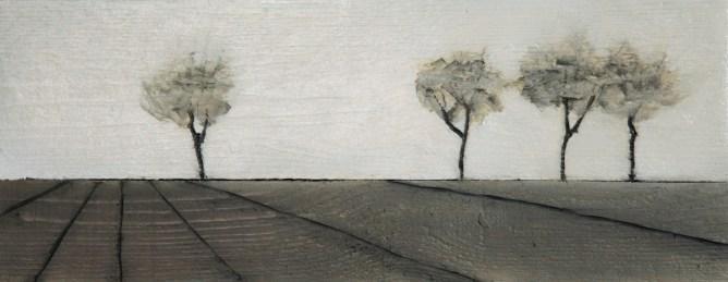 2013-Drei-plus-eins-20-x-50-cm-Mischtechnik-auf-Holz