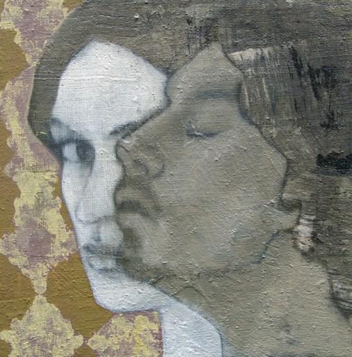 2009-Verliebter-Rosenkrieg-30-x-30-cm-Öl,-Acryl,-Tusche,-Nessel,-Holz