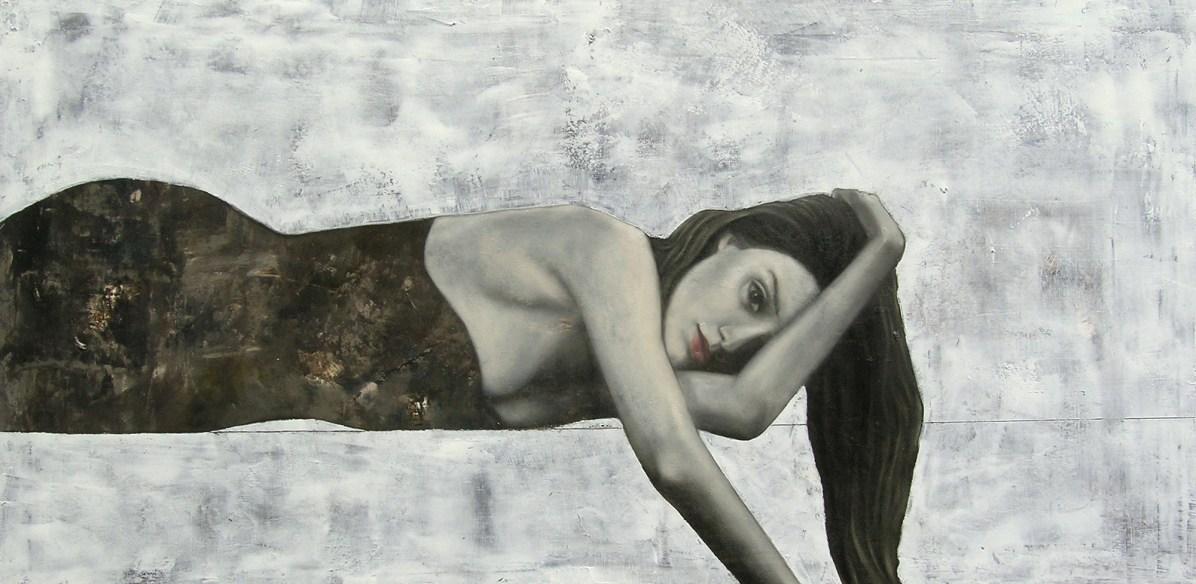 2009-Nach-dem-Winter-100-x-200-cm-Öl,-Acryl,-Tusche,-Nessel