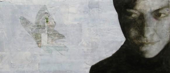 2010-Herz-vernascht-Kopf-80-x-180-cm-Öl,-Acryl,-Tusche,-Nessel