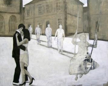 93-2009-Wahrheitsfindung-130-x-160-cm-Öl,-Acryl,-Tusche,-Bleistift,-Nessel