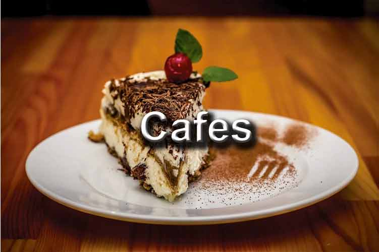 Cafes – great coffee, high teas, sweet treats, family friendly