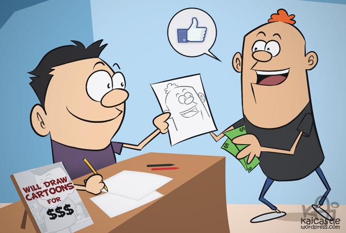 Event Commission Cartoon Illustration
