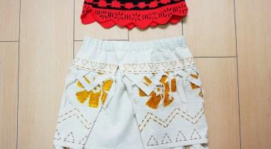 モアナの衣装ほとんど完成品の画像