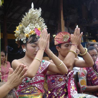 インドネシア、バリ島の結婚式