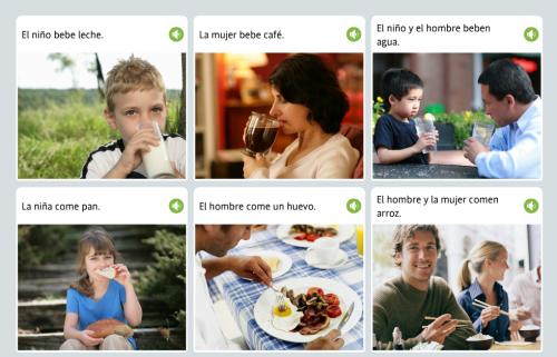 スペイン語音声を聞いて画像を選ぶ