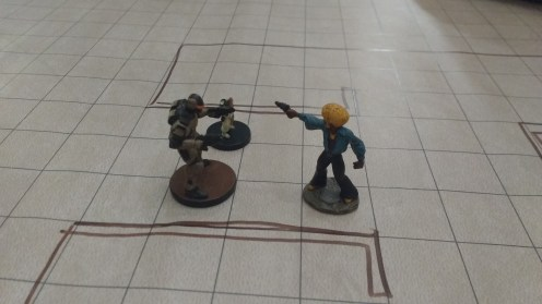 One test during the Starfinder dry run was trying to convince a thug named Bobobo to let them keep their weapons.