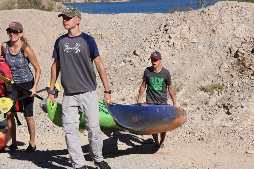 Takeout at Eagle Wash, Nevada: Kayak the Colorado River