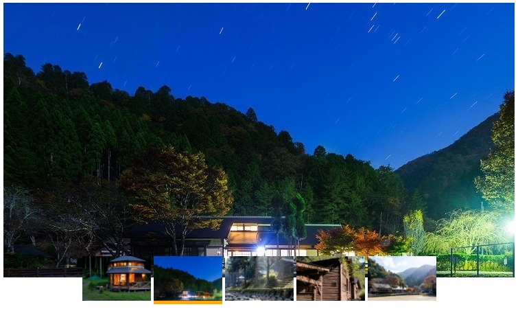 ひよしフォレストリゾート山の家からみた夜景