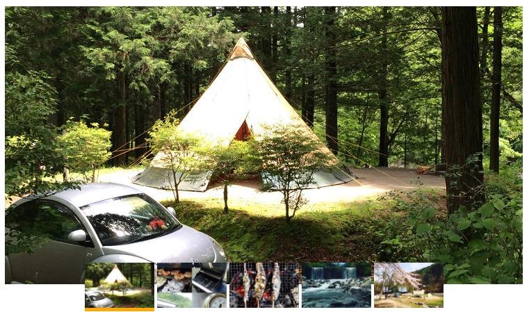 小黒川渓谷キャンプ場の風景