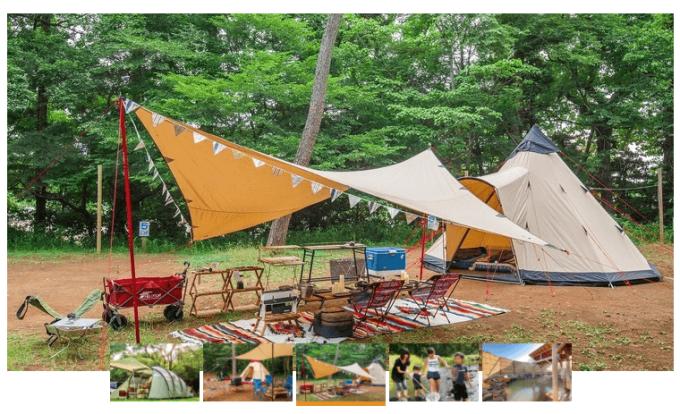 休暇村裏磐梯キャンプ場の風景
