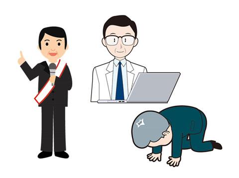 選挙の候補者と落選した候補者