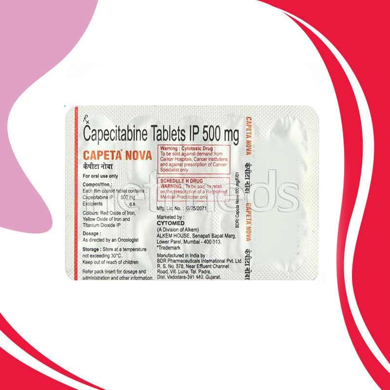 Capeta Nova 500MG 10TAB. Капецитабин. Лечение рака.  Индия