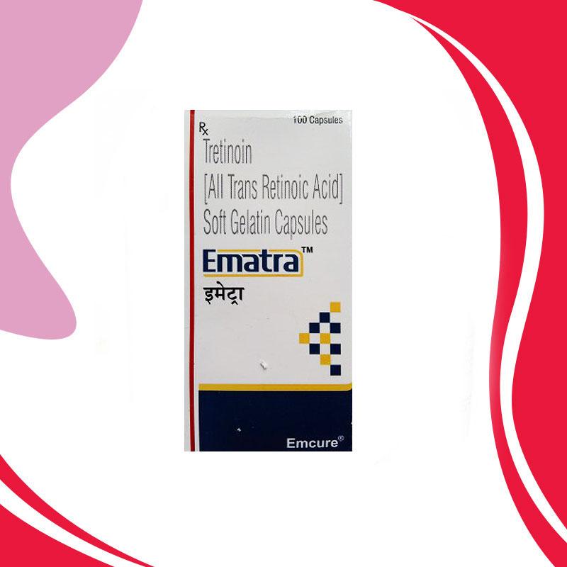 EMATRA 10MG 100KAPS Третиноин Химиотерапия лейкоза Индия