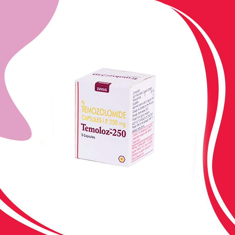 TEMOLOZ 250MG 5TAB. Темозоломид. Средство терапии рака. Индия