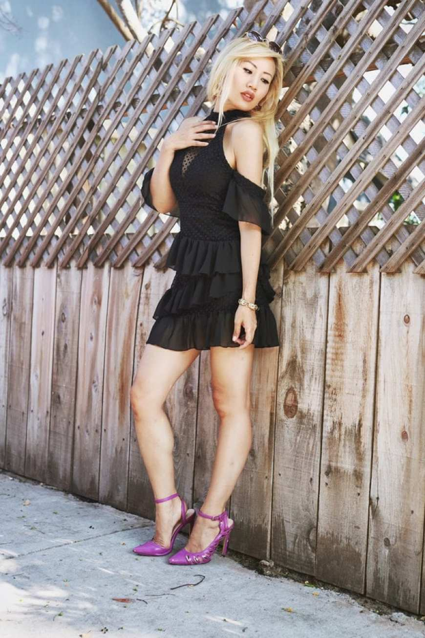 Pretty Little Thing Homecoming Black Dress