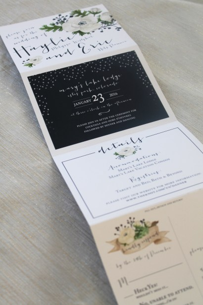 Tri-Fold Invitation for Mountain Wedding