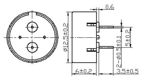 HP1360A External Driven Piezo Buzzer ,Without oscillator