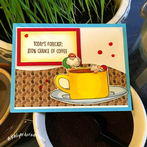 Coffee-Gnomes Greeting Card by Kailyard Creations