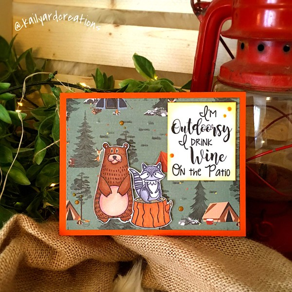 Outdoorsy greeting card by Kailyard Creations
