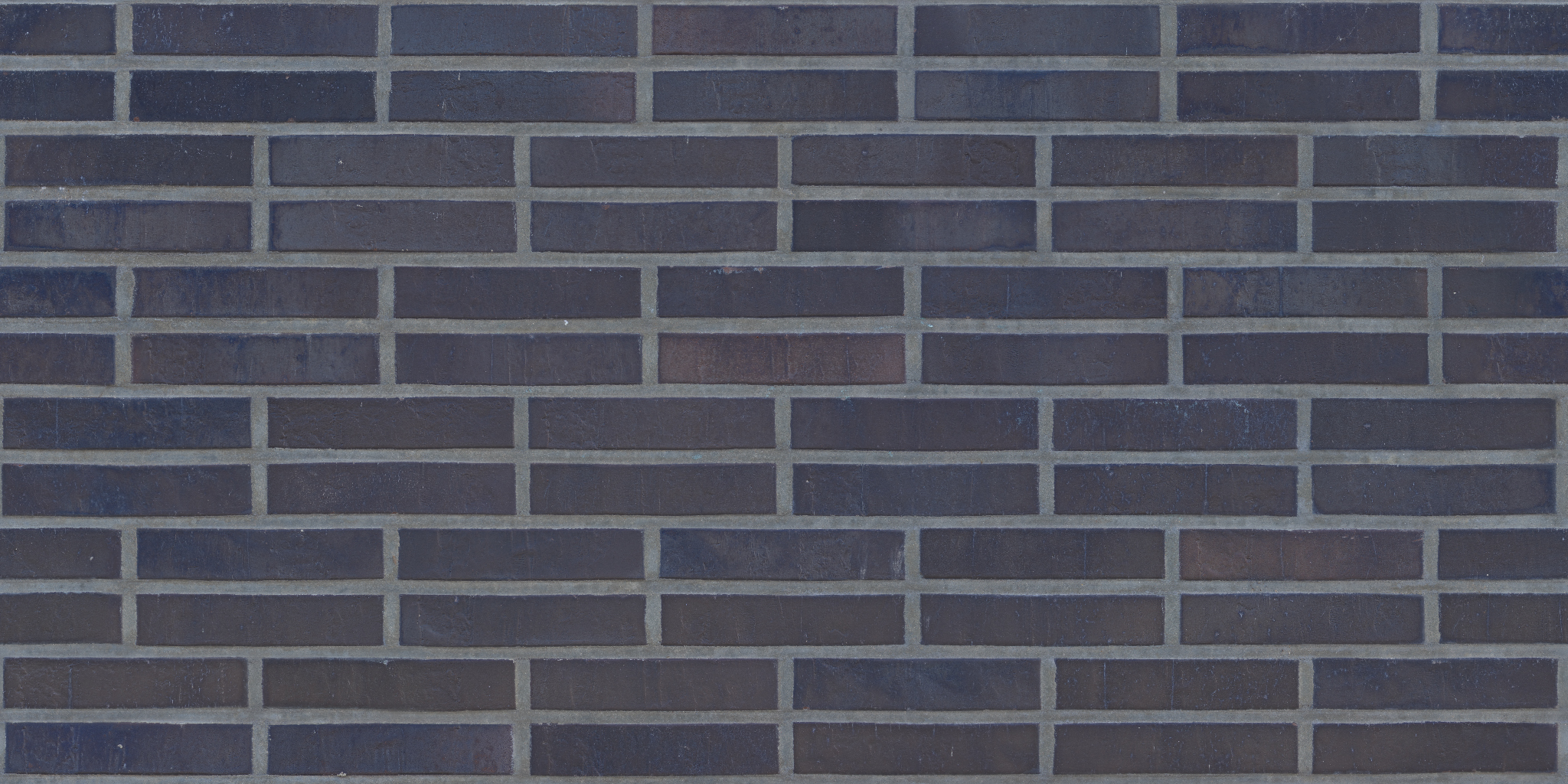 3D Scanned Seamless Brick Wall Dark Albedo Map