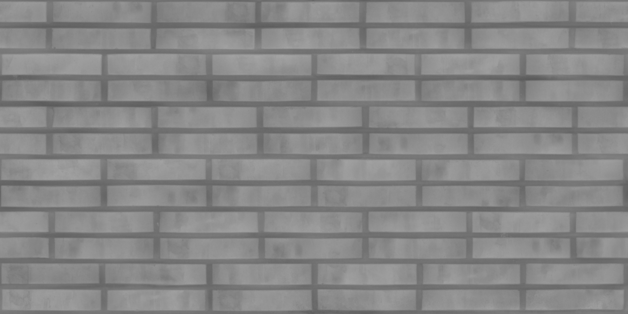 3D Scanned Seamless Brick Wall Dark Height Map