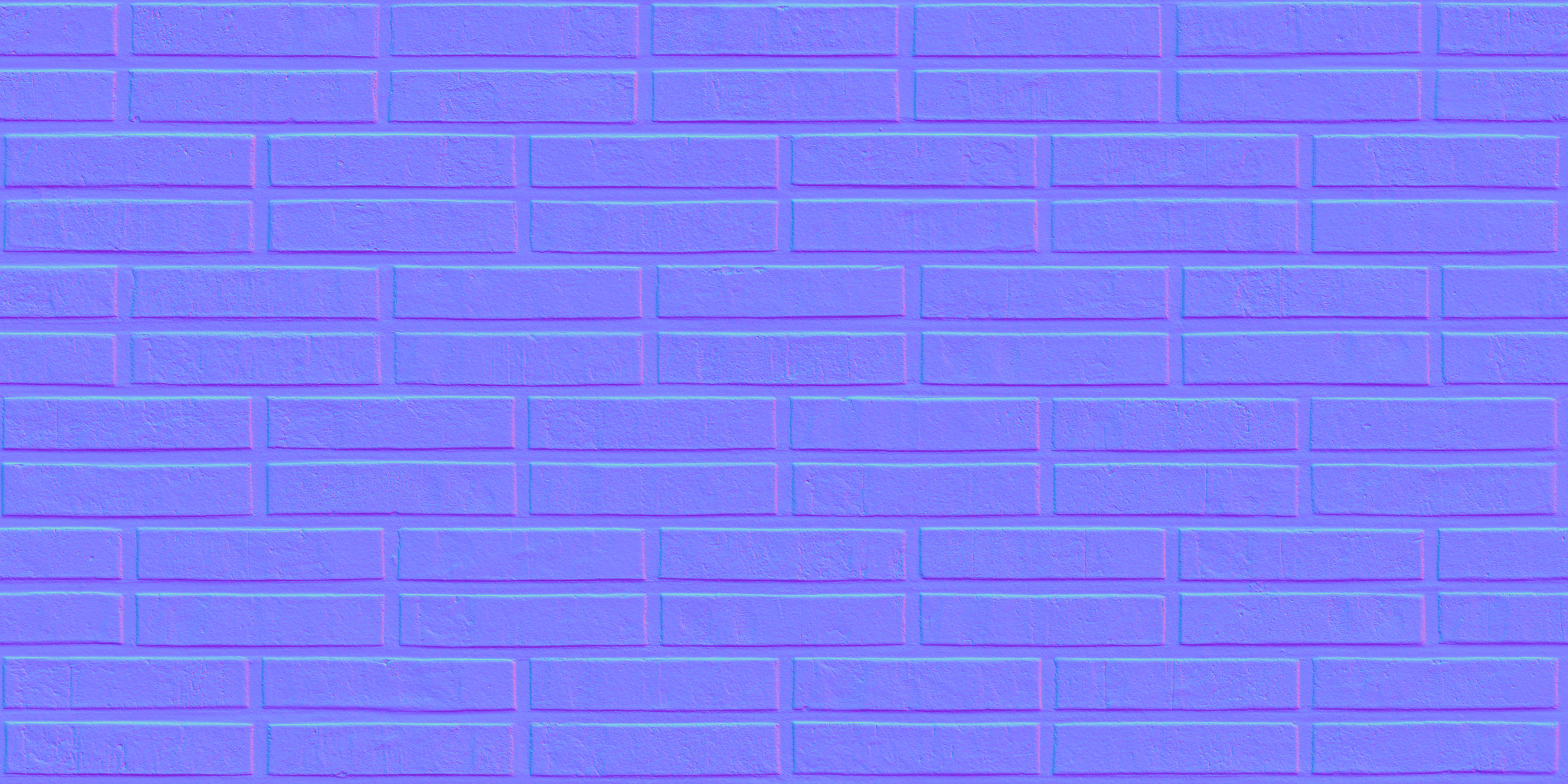 3D Scanned Seamless Brick Wall Dark Normal Map
