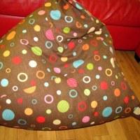 Triangle Bean Bag Chair Storage