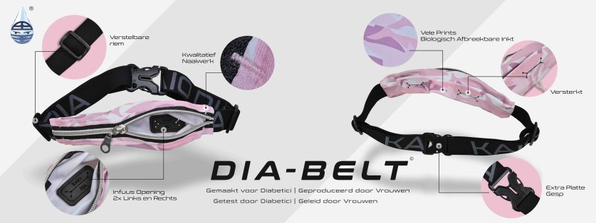 Dia-Belt de perfecte buidel voor je pomp / het perfecte insulinepomp tasje