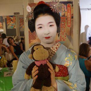 先斗町の舞妓しゃんに抱っこしてもらいました