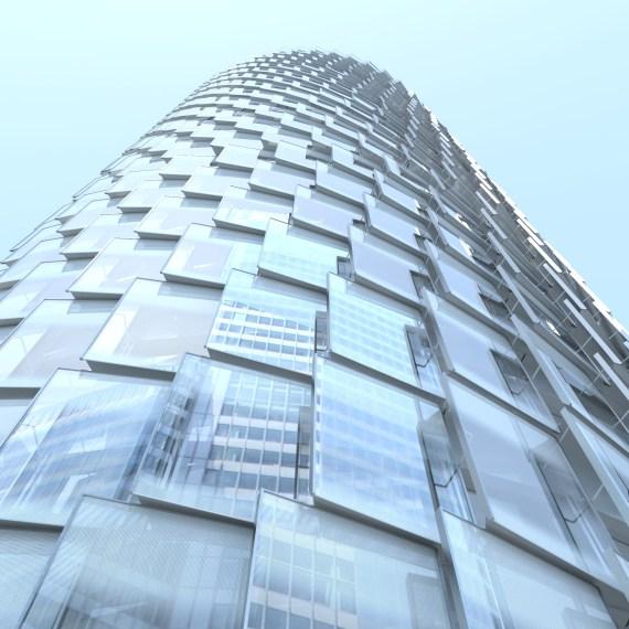Tour Alto, La Défense, étude de la façade