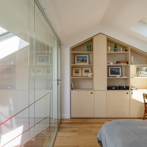 Mezzanine suspendue (crédits : Haddock architecture)