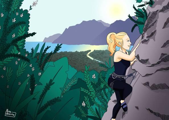 Aline dessine Semaine 4 - Climb girl