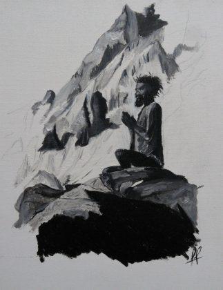 Camille peint Semaine 8 - Méditation