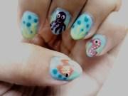 star fish nail art kai romone