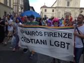 Il gruppo Kairos al Toscana Pride di Firenze (18 giugno 2016)
